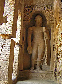 Buddha Statue at Kanheri Caves, Borivali National Park